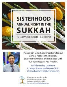 Sisterhood Sukkah night