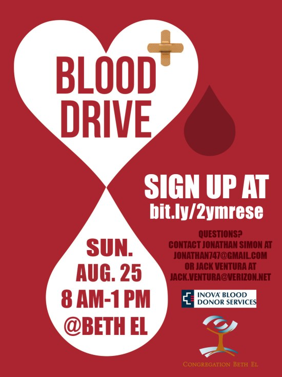 Blood drive. Click to reserve your spot online.