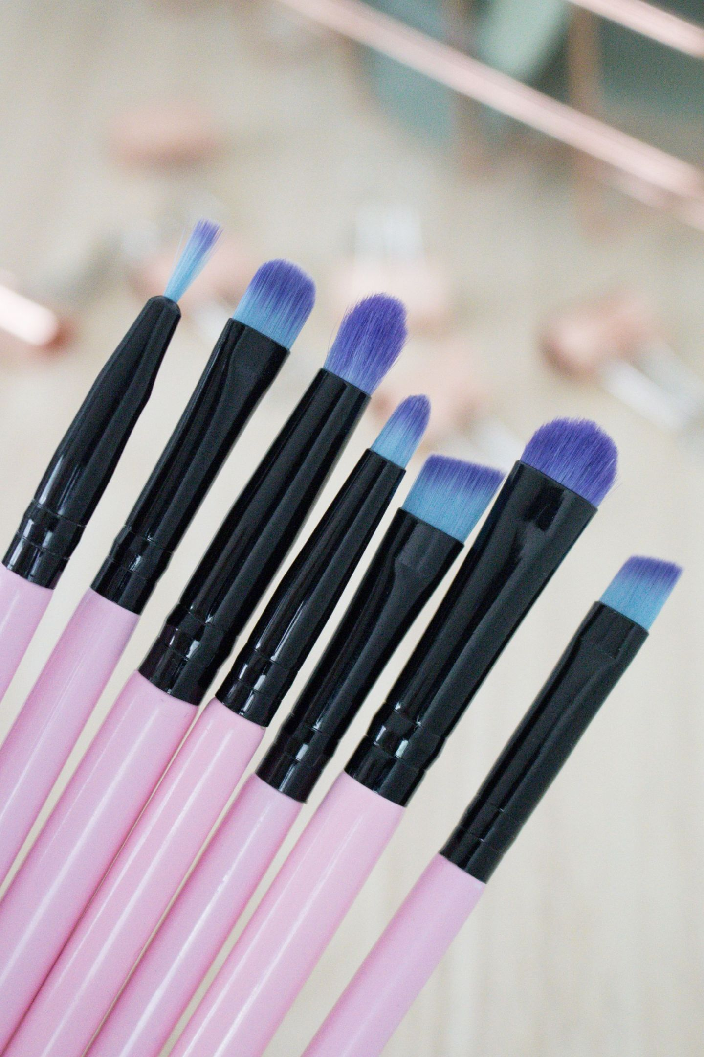 Spectrum Millennial Pink Eye Brushes
