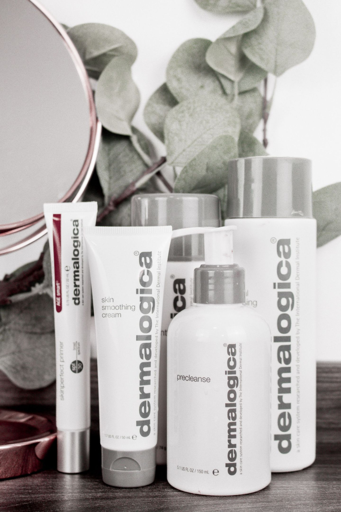 Dermalogica Skincare Routine PreCleanse, Special Cleansing Gel, Daily Microfoliant, Skin Smoothing Cream, SkinPerfect Primer