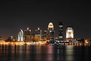 Louisville, Kentucky at night