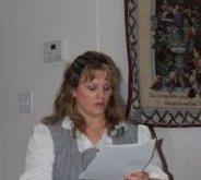 Beth sharing at Women of the Well meeting