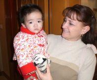Kim holding Hadassah