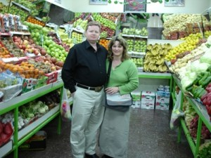 Ray and Beth in grocery store in Israel
