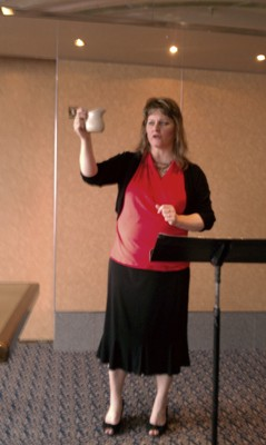 Beth Jones, speaking at Women of Destiny conference