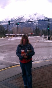 Me in front of mountain in Jasper Canadian Rockies