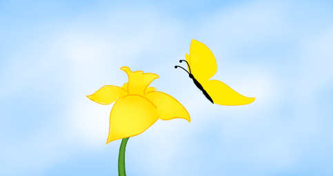 Daffodil-butterfly-copyright-2013-leah-jones