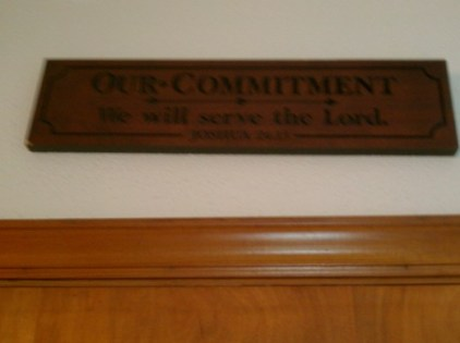 We will  serve the Lord.