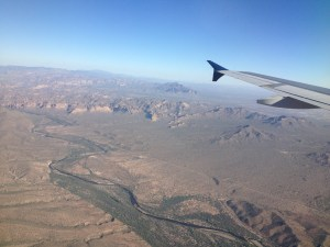 From the plane, Phoenix, AZ