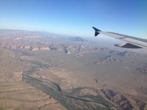 From the plane, Phoenix, AZ