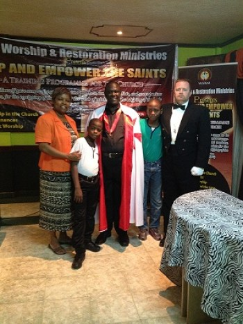 Apostle Catherine, Pastor Felix and his sons, & Ray