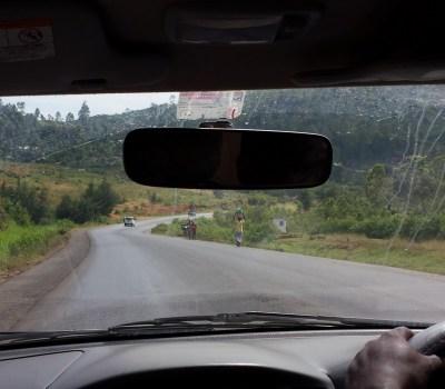 People walking on roads in Kenya