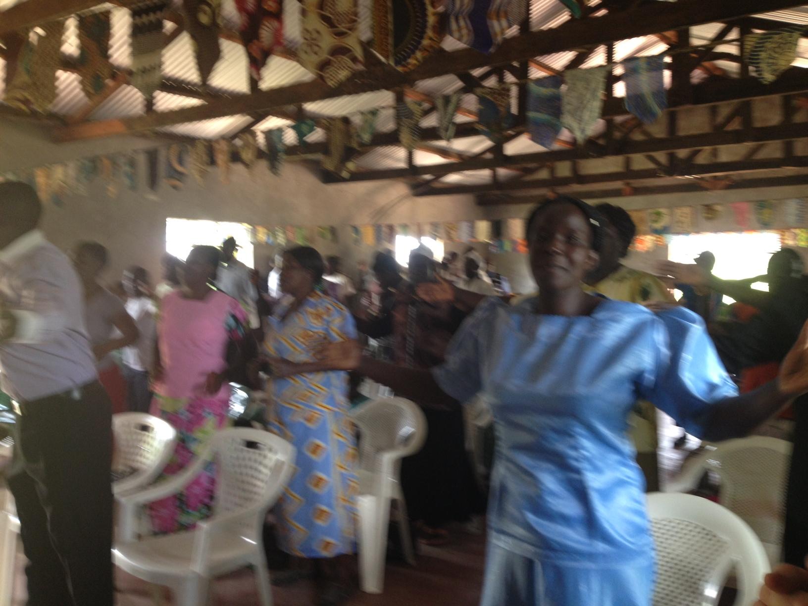 Women dancing Revival Worship & Praise Church Mumsia, Kenya, Africa