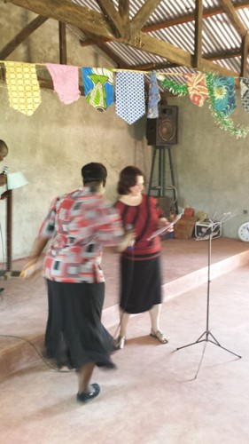 Pastor Rose Mudenyo & me before speaking 2nd conference day Bungoma, Kenya, Africa