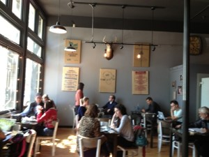 20's-30's crowd at Quay Coffee Shop