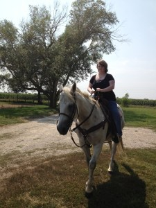 Our daughter Leah on Ace