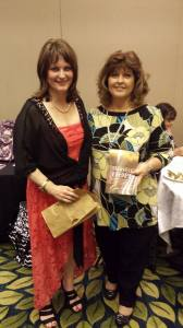 me & attendee Deborah Lawrence Deborah won Dana Arcuri's book, Harvest of Hope
