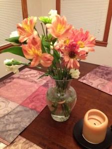 Fresh flowers from Liz