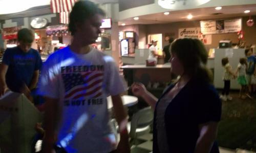 Leah & David Christian at bowling alley