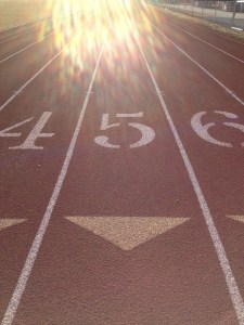 Lane 5 at the track