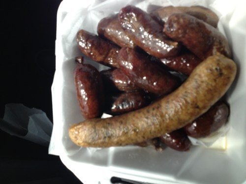 hot links and boudin sausage