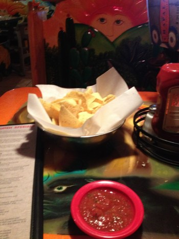 my treat after speaking: Mexican restaurant  Chips and salsa