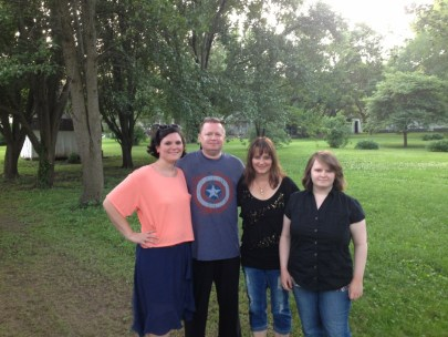 Leah with our family, Heather, Ray & me