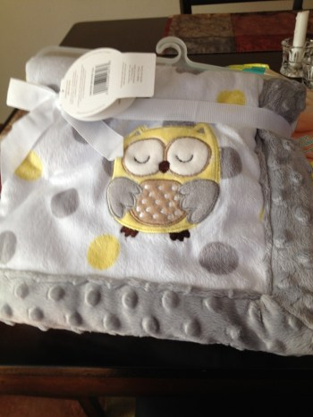 Soft owl blanket for Piper