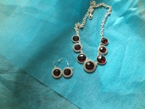 silver ruby costume jewelry