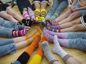 colored socks