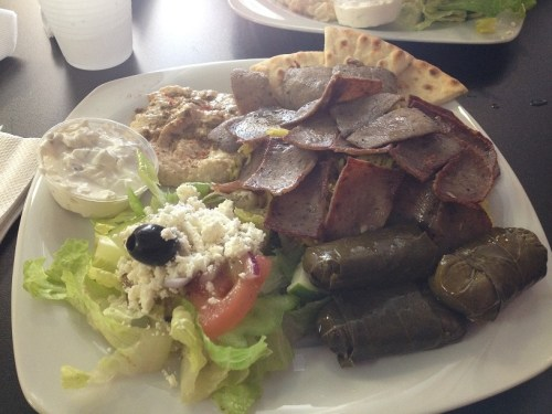 Royal Gyros restaurant My lunch celebration