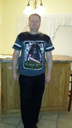 Ray in his Star Wars t-shirt