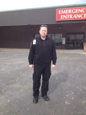 My husband Ray at work