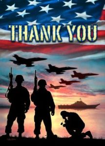 Memorial Day Vets thank you. Image source: Pinterest