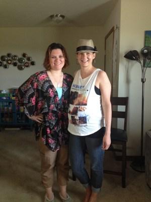 Heather & her friend Tiffany