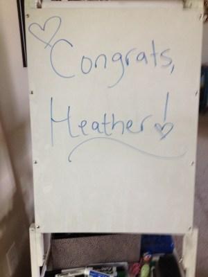 Congrats sign