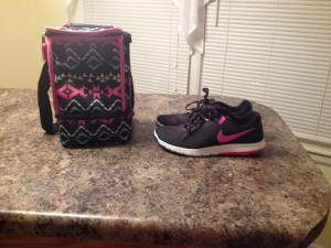 my new lunchbox & Nikes