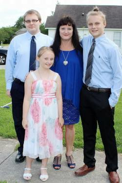 My sister Maria, her son Nicholas, her daughter Katie & her son Brandon