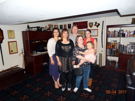 Ray & me and our 3 beautiful daughters, Heather, Leah & Eden (and Piper, our granddaughter)