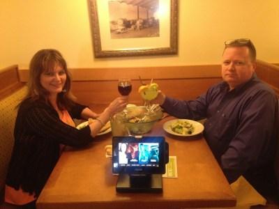 Ray & me toasting at OG