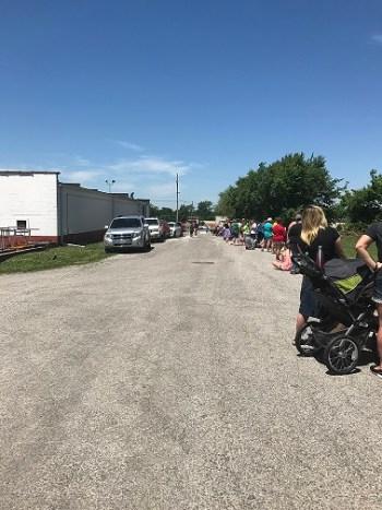 line in parking lot