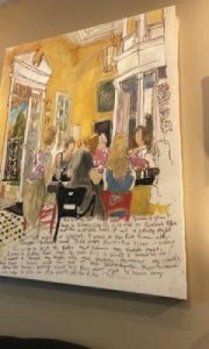 Cute Paris paintings in Chez Elle
