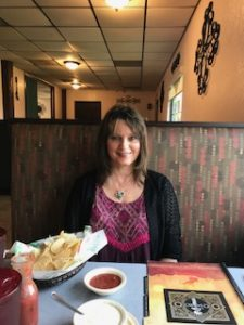My birthday today with Ray at lunch--got my chips and salsa fix!