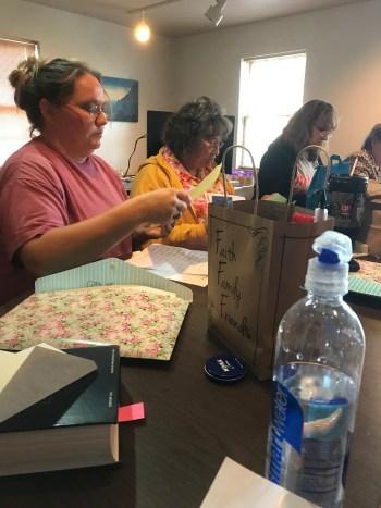women at ladies' retreat