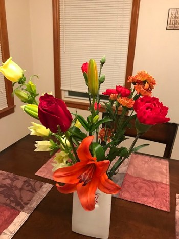 Orange lily, rose & other beautiful flowers