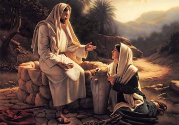 Jesus at well with woman