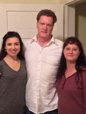 My brother Greg (middle), with his beautiful Russian wife (left) and my sister Maria (right)