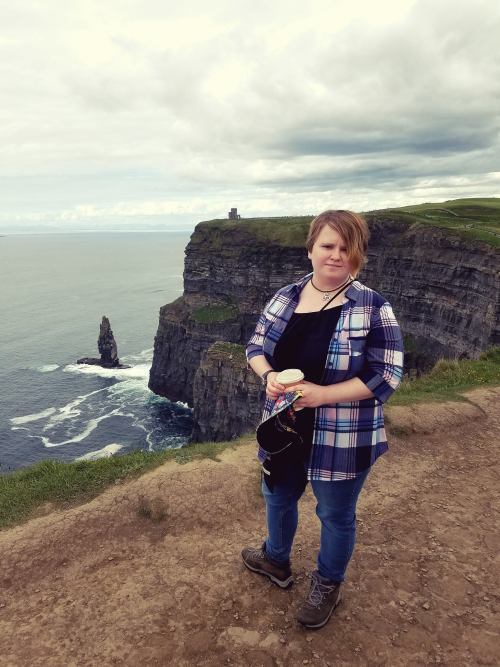 A beautiful pic of Leah at the Cliffs of Moher