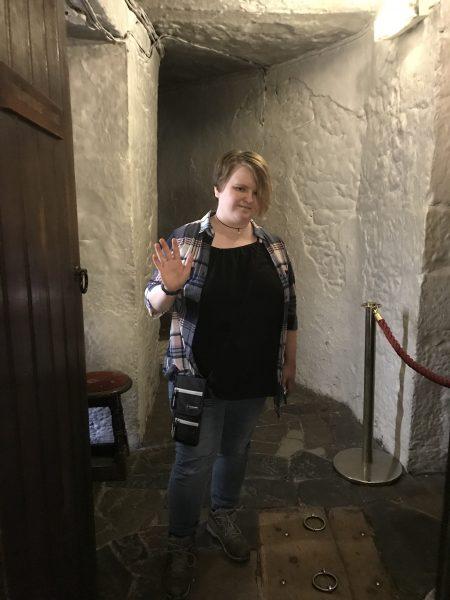 Leah inside the castle