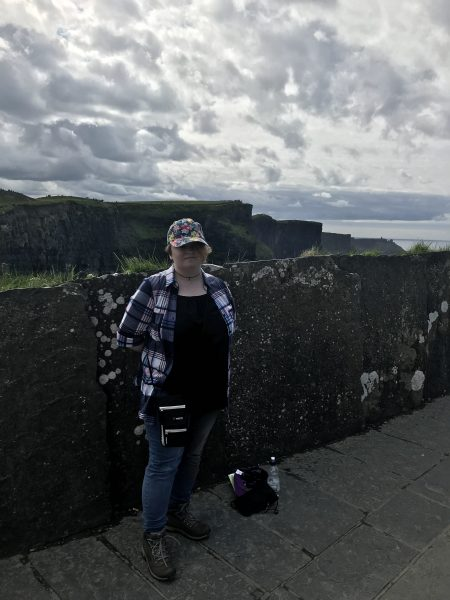 Leah at the Cliffs of Moher, Ireland